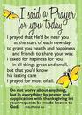 Christian Brands 13949UD Verse Cards Said A Prayer