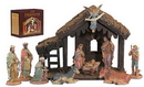 Sacred Traditions 18022 Nativity Set with Wood Stable