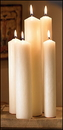 Christian Brands 30838 Altar Brand® 51% Beeswax Candle - 2/box