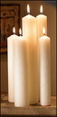Christian Brands 33412P Altar Brand Short 4 Self-Fitting End Candle