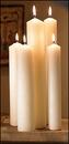 Christian Brands 34312P Altar Brand Spec 3 Plain End Candle