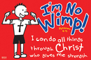 Christian Brands 34877UD Small Poster I'M No Wimp