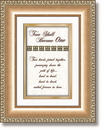 Heartfelt 41525 Two Shall Become One Framed Tabletop General Verse