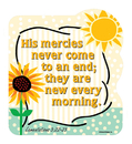 Christian Brands 51026UD Shape Magnets His Mercies Never