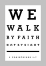 Christian Brands 63412UD Large Poster We Walk By Faith