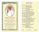 Ambrosiana 800-0997 Message To The Sick Laminated Holy Card