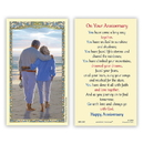 Ambrosiana 800-1087 Wedding Anniversary Holy Card