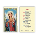 Ambrosiana 800-1120 Immaculate Heart of Mary - Mary Prayer Holy Card