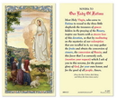 Ambrosiana 800-1127 Our Lady of Fatima Laminated Holy Card - 25/pk