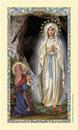 Ambrosiana 800-1129 St. Bernadette Laminated Holy Card - 25/Pk