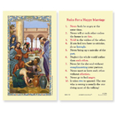 Ambrosiana 800-1156 Wedding At Cana (Rules For A Happy Marriage) Holy Card
