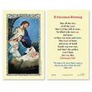 Ambrosiana 800-1170 Nativity Laminated Holy Card - 25/pk
