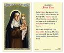 Ambrosiana 800-1198 Saint Clare Of Assisi Laminated Holy Card