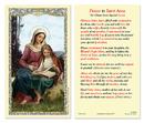 Ambrosiana 800-1201 St. Anne Laminated Holy Card - 25/Pk