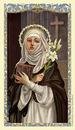 Ambrosiana 800-1212 St. Catherine Of Siena Laminated Holy Card - 25/Pk