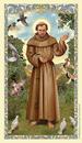 Ambrosiana 800-1220 St. Francis of Assisi Holy Card