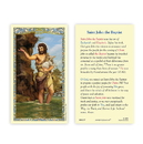 Ambrosiana 800-1237 Saint John the Baptist Holy Card