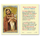 Ambrosiana 800-1240 Saint Joseph And Child, Protector Of Homes Holy Card