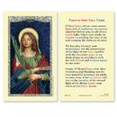 Ambrosiana 800-1245 Saint Lucy Prayer Holy Card