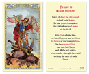 Ambrosiana 800-1254 St. Michael Laminated Holy Card - 25/pk