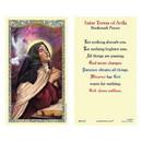Ambrosiana 800-1274 Saint Teresa of Avila Laminated Holy Card - 25/pk