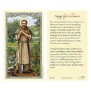 Ambrosiana 800-1338 Saint Fiacre Laminated Holy Card - 25/pk