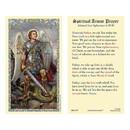 Ambrosiana 800-1339 Saint Michael Laminated Holy Card - 25/pk