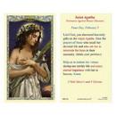 Ambrosiana 800-1341 Saint Agatha Laminated Holy Card - 25/pk