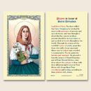 Ambrosiana 800-1763 St. Dymphna Laminated Holy Card - 25/Pk