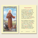 Ambrosiana 800-1767 St. Francis of Assisi Pet Prayers Holy Card