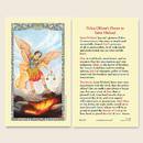 Ambrosiana 800-1779 St. Michael Laminated Holy Card - 25/Pk