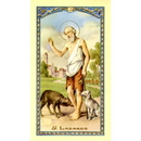 Gerffert 800-249 Saint Lazurus Prayer Holy Card