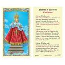 Ambrosiana 800-3575 Infant of Prague Laminated Holy Card - 25/pk