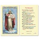 Ambrosiana 800-3675 The Beatitudes Laminated Holy Card