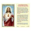 Ambrosiana 800-3901 Sacred Heart Laminated Holy Card - 25/pk