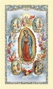 Ambrosiana 800-4271 Our Lady of Guadalupe with Visions Laminated Holy Card