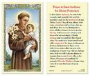 Ambrosiana 800-5070 Saint Anthony Laminated Holy Card