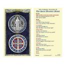 Ambrosiana 800-5140 Saint Benedict Laminated Holy Card - 25/pk