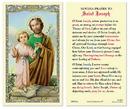Ambrosiana 800-5564 Saint Joseph And Child Laminated Holy Card