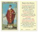 Ambrosiana 800-5932 Saint Nicholas Laminated Holy Card