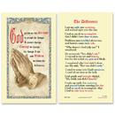 Ambrosiana 800-7200 Serenity Prayer Laminated Holy Card - 25/Pk