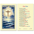 Ambrosiana 800-7300 Cross On The Ocean (Take Time) Holy Card
