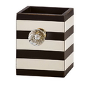 Christian Brands B1671 Empty Pen Holder - Black/White Stripe