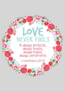 Christian Brands B1760 Large Poster - Love Never Fails