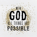Heritage B1973 Heart of Gold - With God All Things Are Possible - Plaque