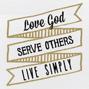 Heritage B1975 Heart of Gold - Love, Serve, Live - Plaque