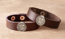 Creed B2249 St. Benedict Leather Bracelet - Brown - 4/Pk
