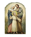 Avalon Gallery B2326 Marco Sevelli Arched Tile Plaque W/ Stand - Holy Family