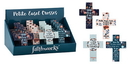 Gifts of Faith B2350 Filled Floral Mini Cross Display 16pcs