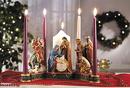 Christian Brands B3052 Nativity Advent Candleholder